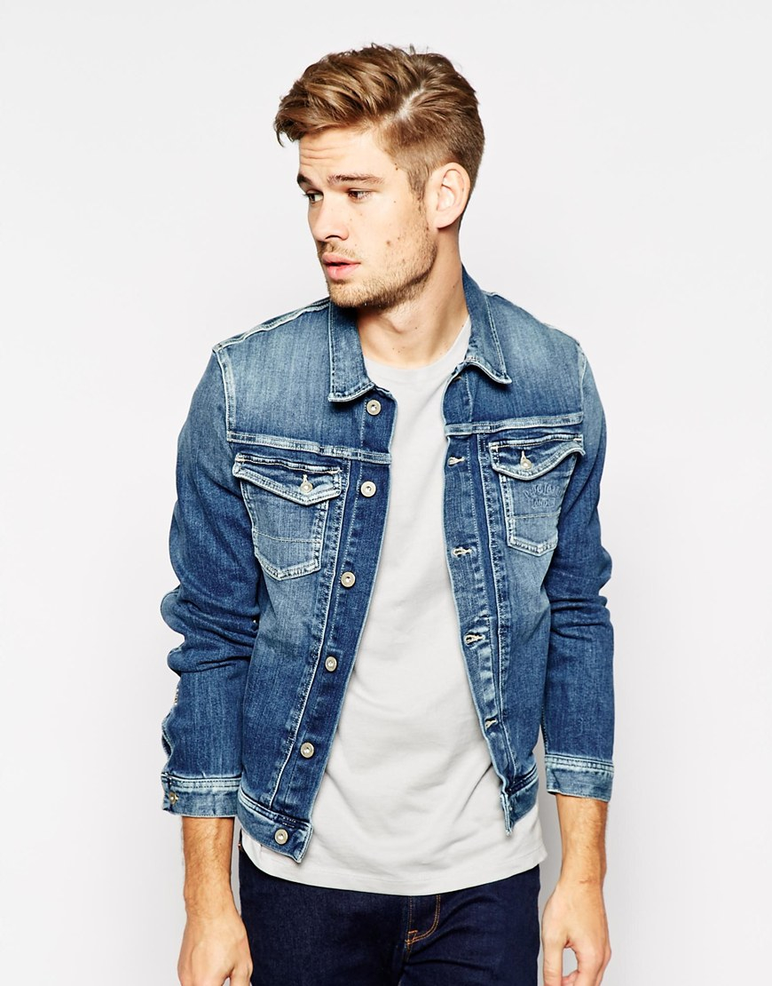 Pepe jeans Pepe Denim Jacket Rooster Slim Fit Stretch Tied Tint ...