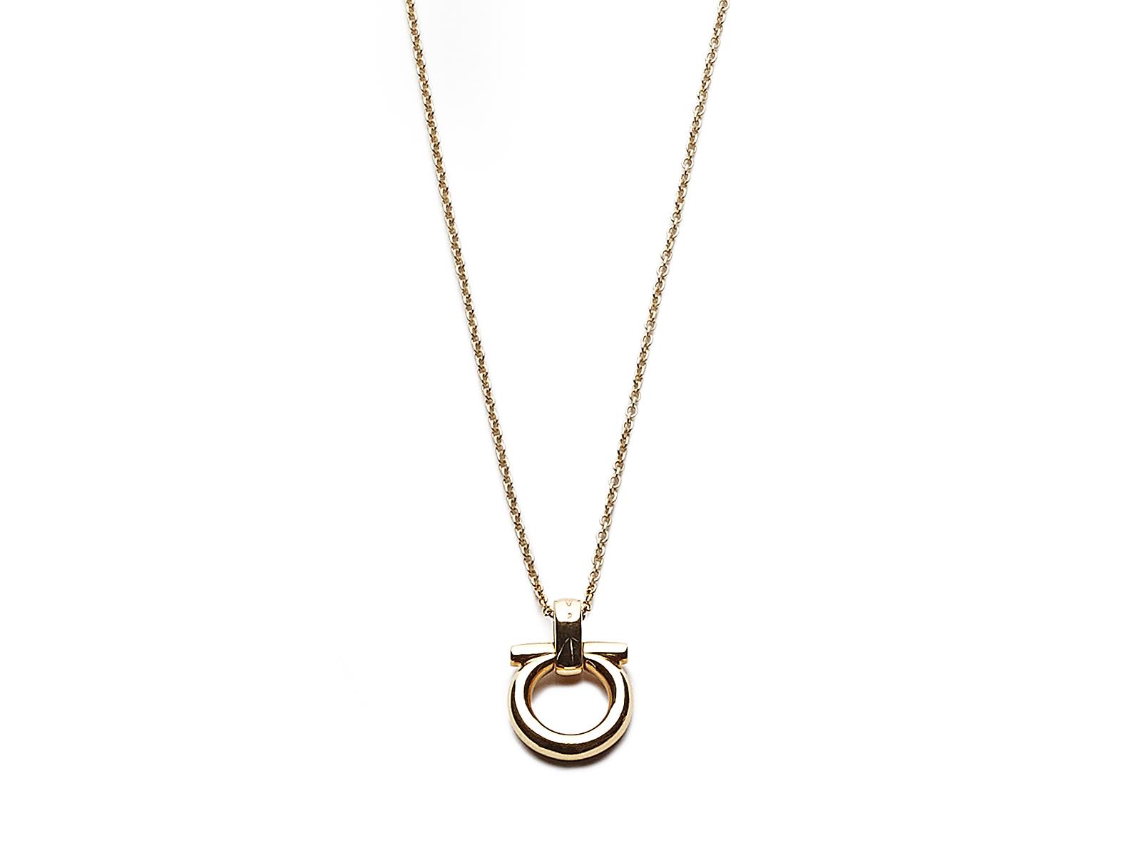 ferragamo gancino necklace in gold giallo lyst