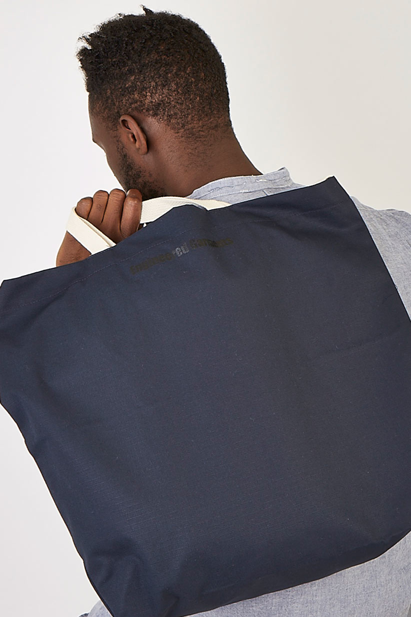 Engineered Garments Carry All Tote Navy Nyco Ripstop in Blue for Men