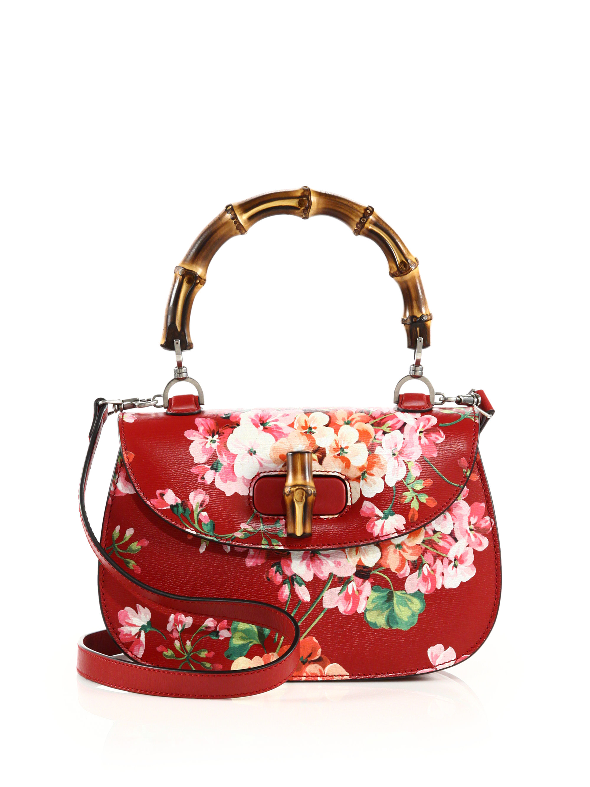 Bamboo gucci classic blooms top handle bag images