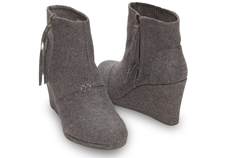 3403c25aa6d cheap black toms shoes toms desert wedge bootie grey toms herringbone  desert wedge