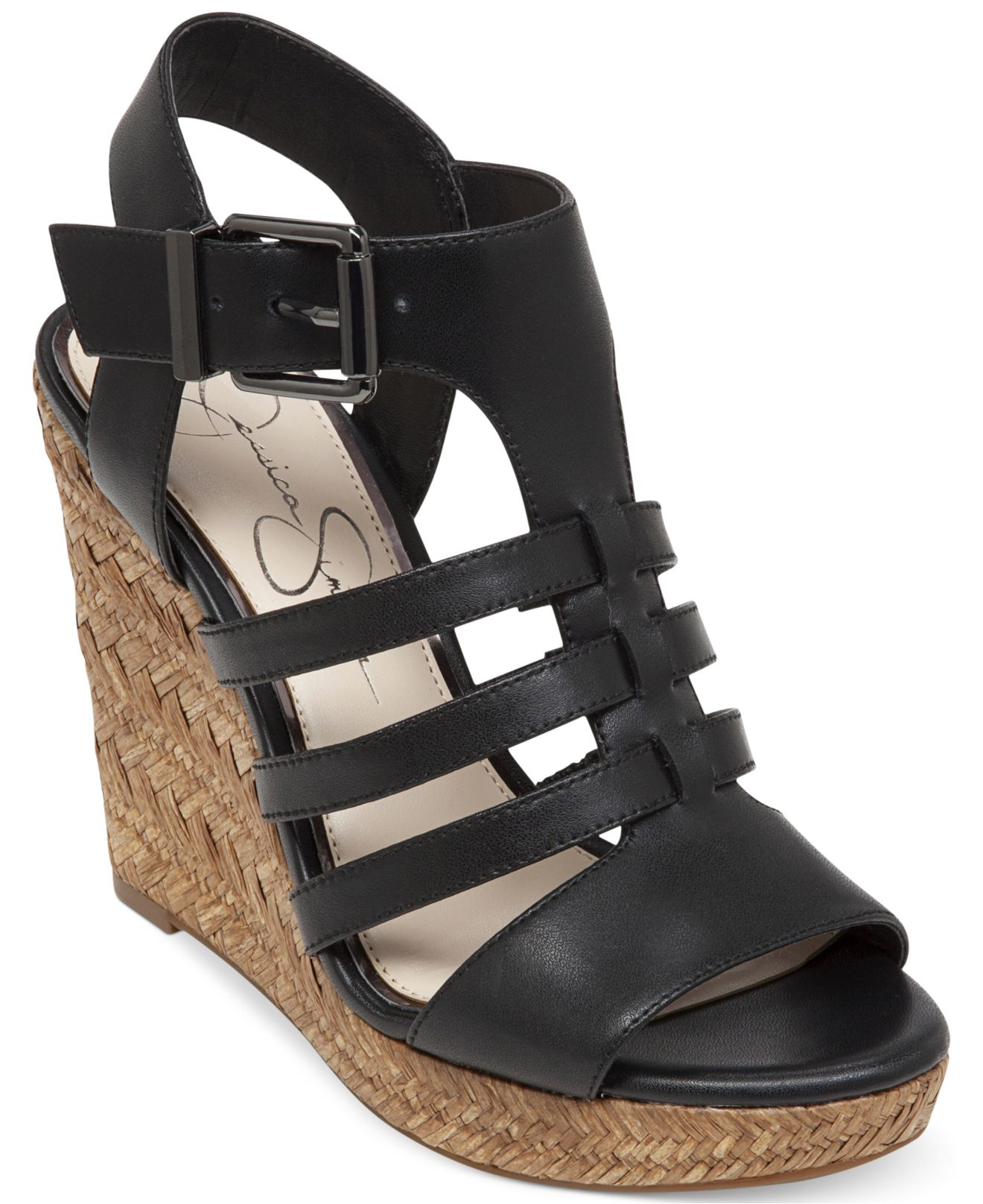 Jessica Simpson Jeyne Strappy Platform Wedge Sandals In