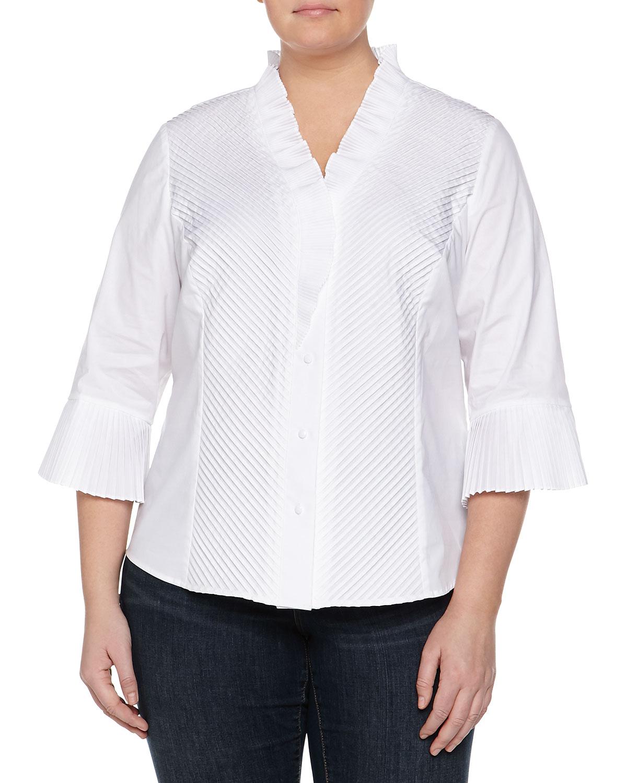 Go silk white blouse lace henley blouse for Silk button down shirt