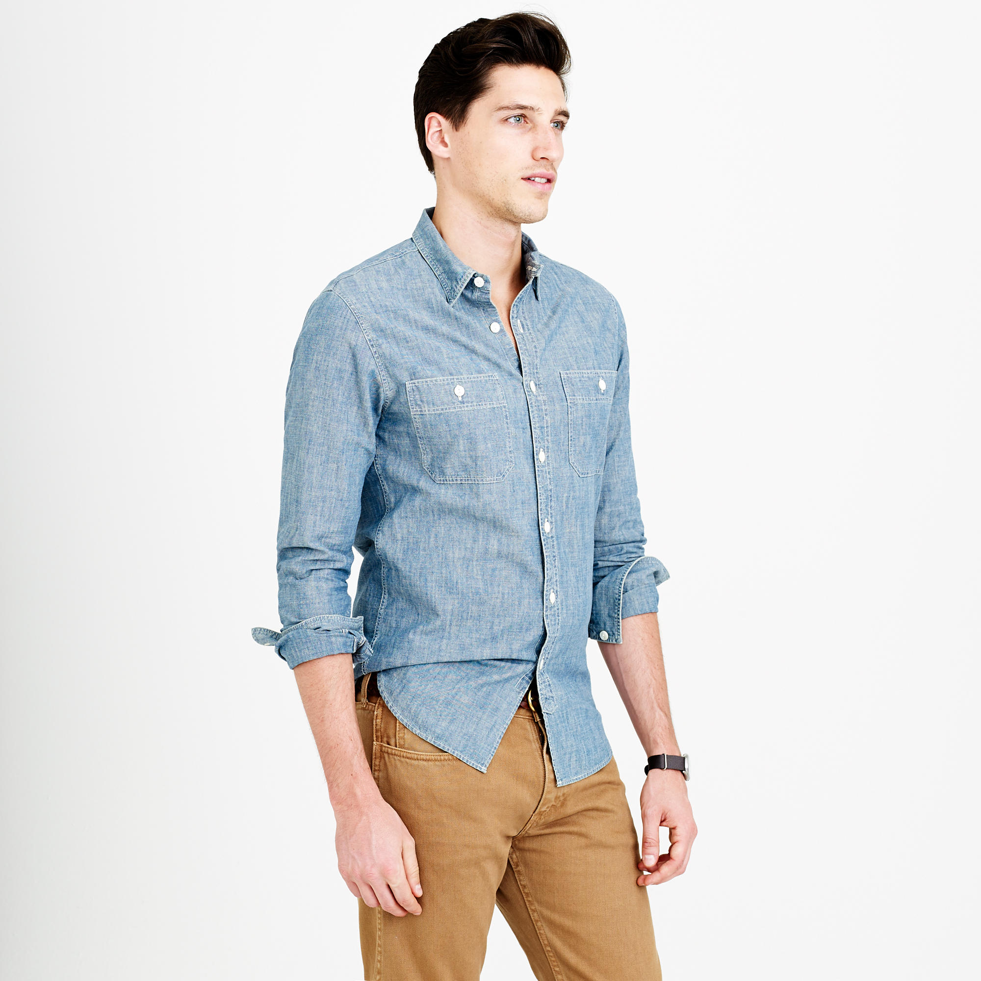 J.crew Selvedge Japanese Chambray Utility Shirt in Blue ...