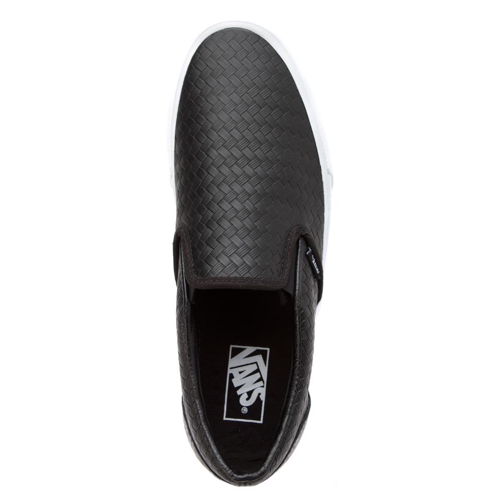 e10215a5f3 Lyst - Vans Classic Slip On - Emboss Weave in Black for Men
