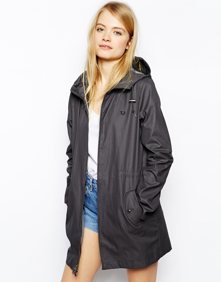 Fred perry raincoat womens