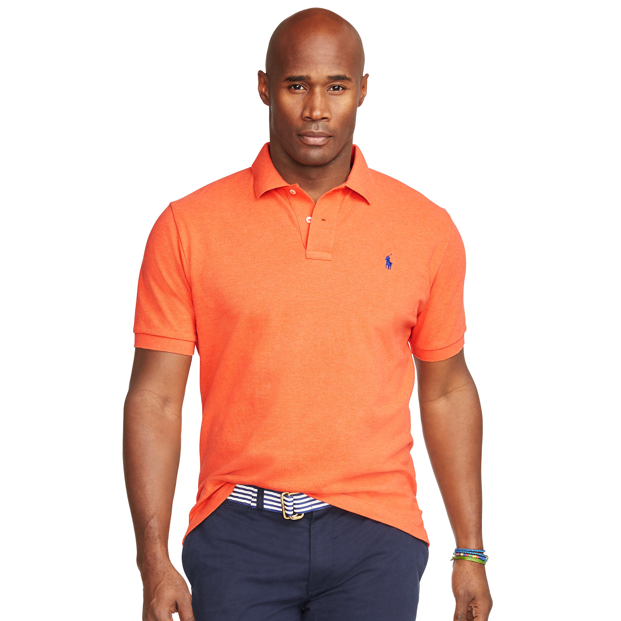 611eedad Pink Pony Classic-fit Mesh Polo Shirt in Orange for Men - Lyst