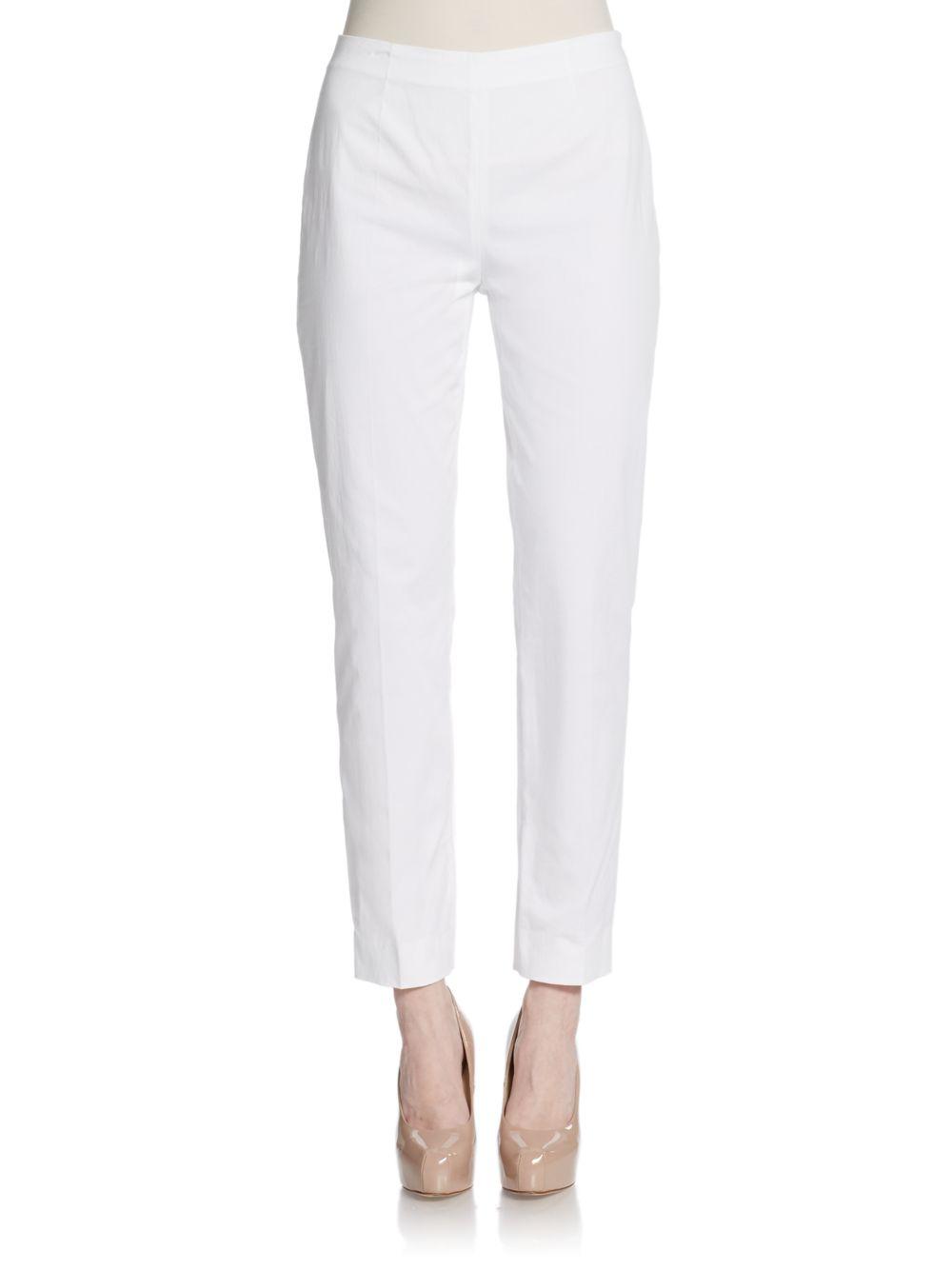 White Cropped Pants   Gpant