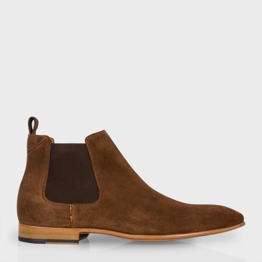 69318f3878da Paul Smith Men's Brown Suede 'falconer' Chelsea Boots in Brown for ...