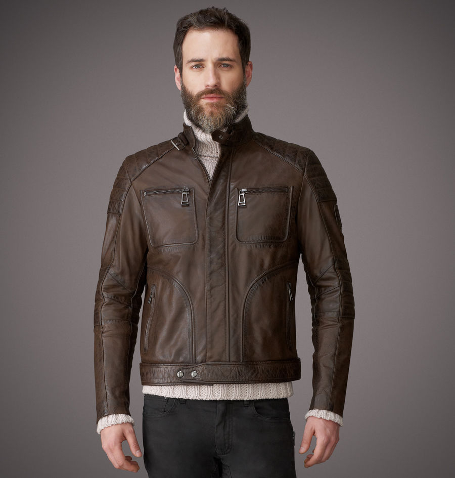 belstaff weybridge jacket in black for men black brown. Black Bedroom Furniture Sets. Home Design Ideas