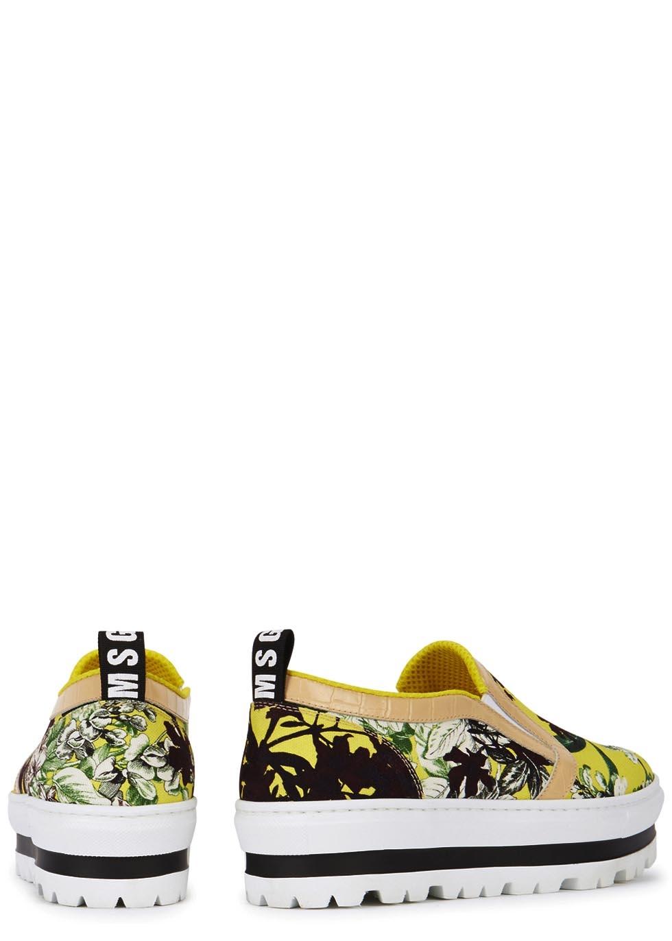 76eb7e9c98dd MSGM Floral Canvas Flatform Skate Shoes - Lyst