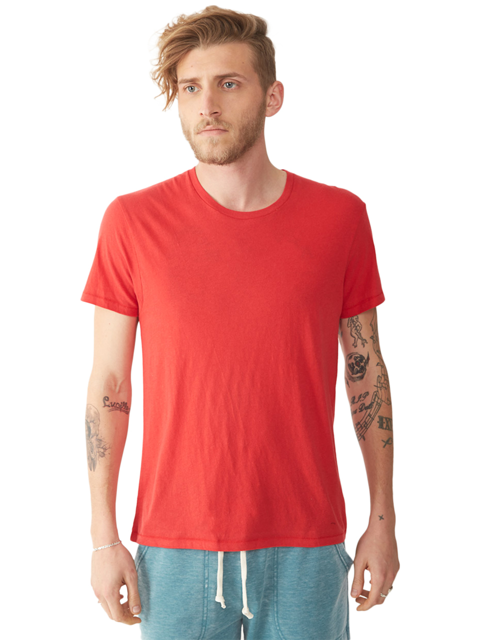 alternative apparel organic cotton mens crew t shirt in