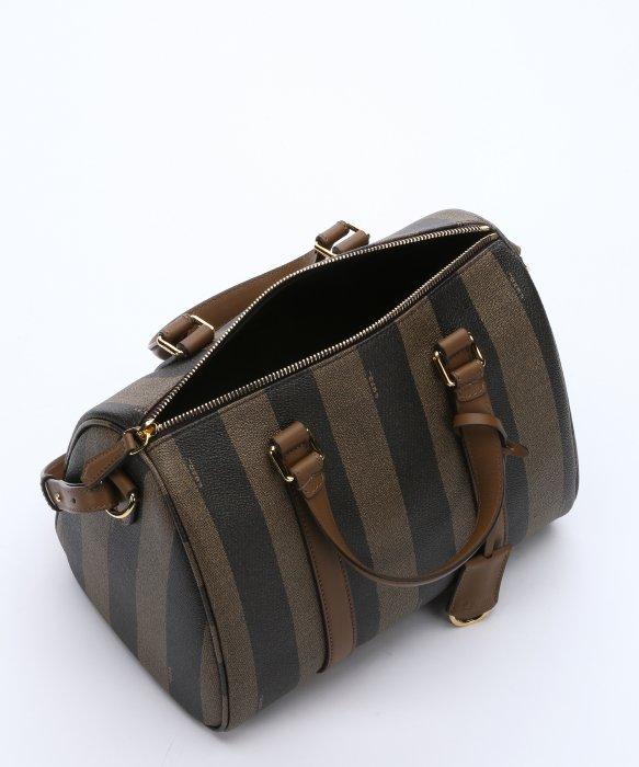 ... canada lyst fendi tobacco pequin striped canvas convertible boston bag  in 27e34 164eb 0eb5dd53e0