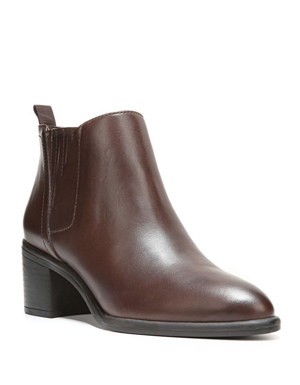 franco sarto emerge leather ankle boots in brown lyst