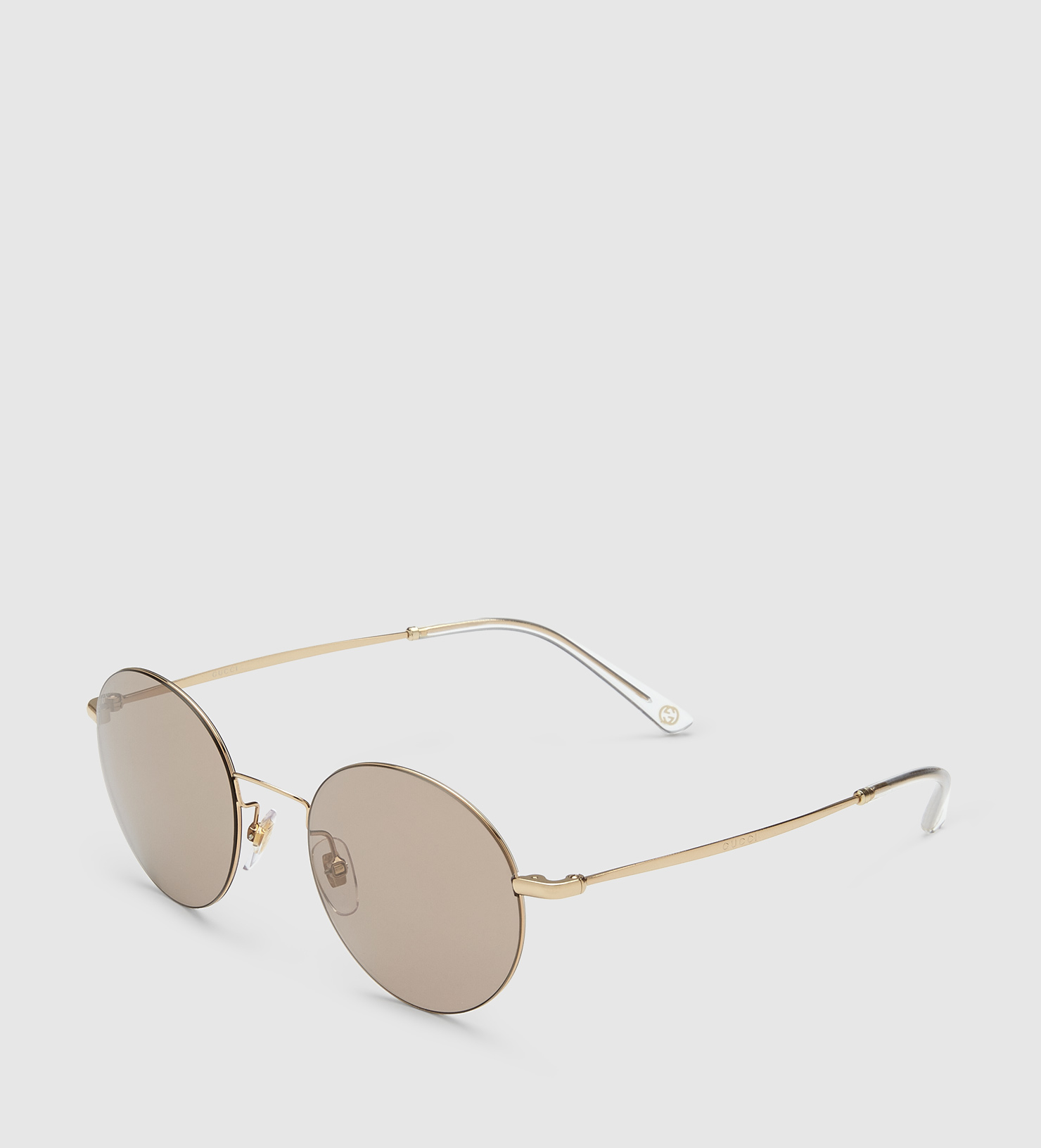 Round Gucci Sunglasses  gucci steel and metal round frame sunglasses in gray lyst