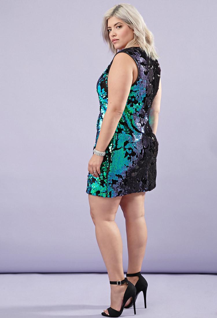 Forever 21 Velvet Tonal Sequin Dress In Black Lyst