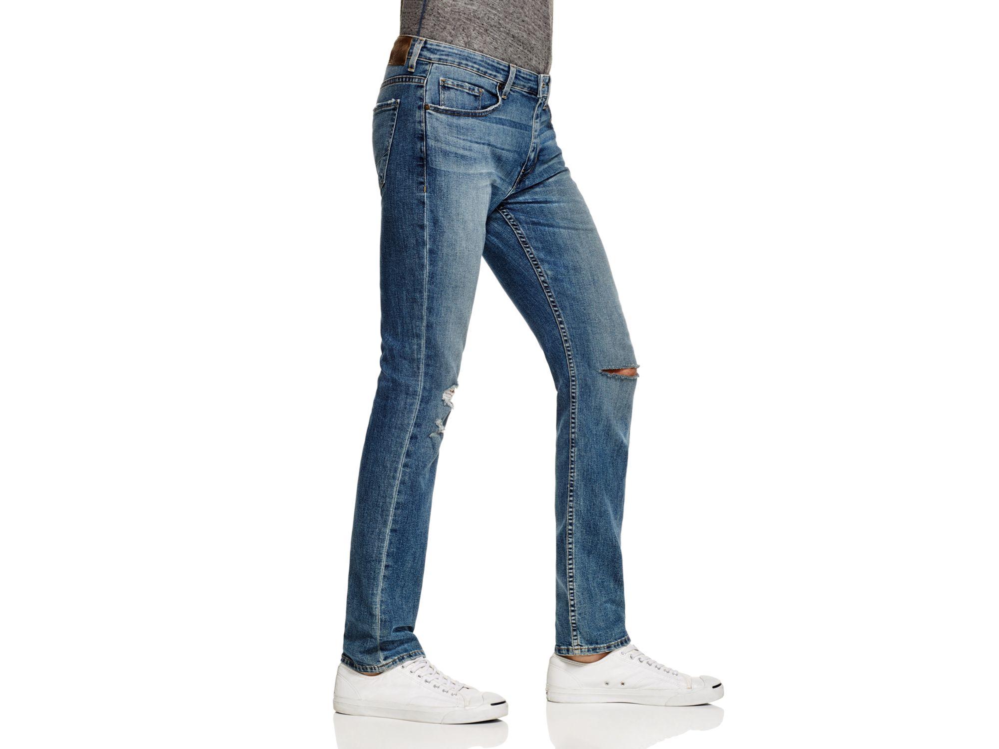 PAIGE Federal Slim Fit Jeans In Sanford in Blue for Men