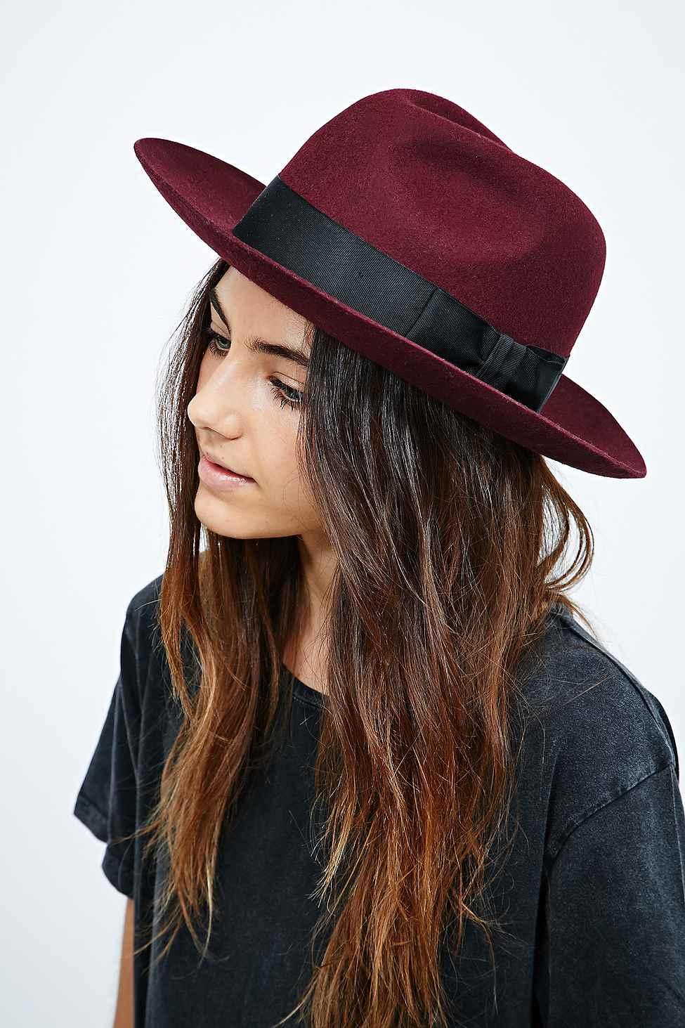 3237f5294da Christys  Grosvenor Fedora Hat in Burgundy in Purple - Lyst