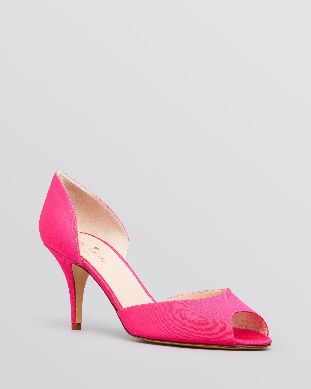 4bbbc860503 Lyst - Kate Spade Peep Toe D Orsay Evening Pumps - Sage High Heel ...