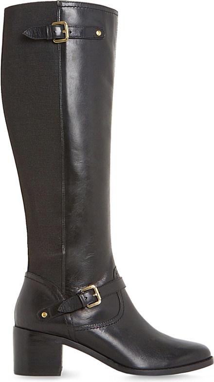dune vivvi leather knee high boots lyst