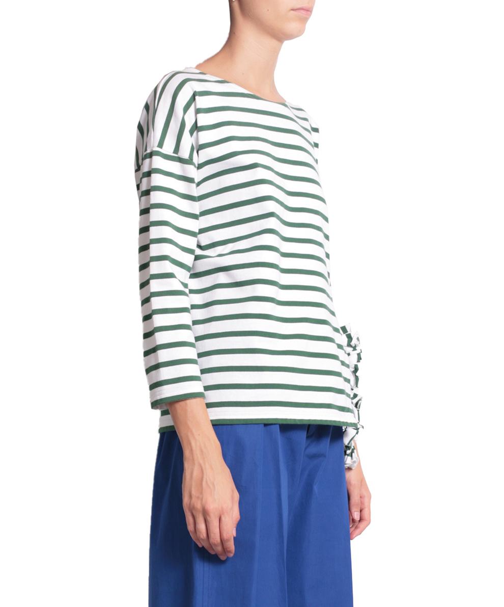 lyst ports 1961 cotton striped asymmetric sweatshirt in