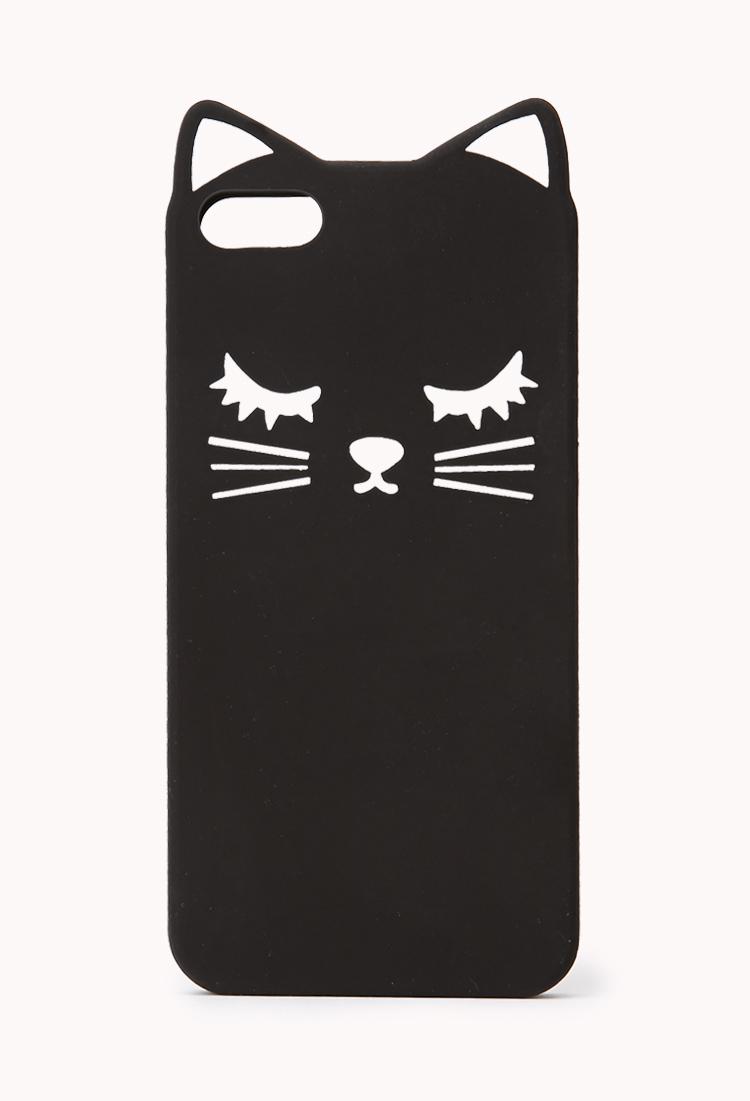 Black Cat Silicone Iphone  Case