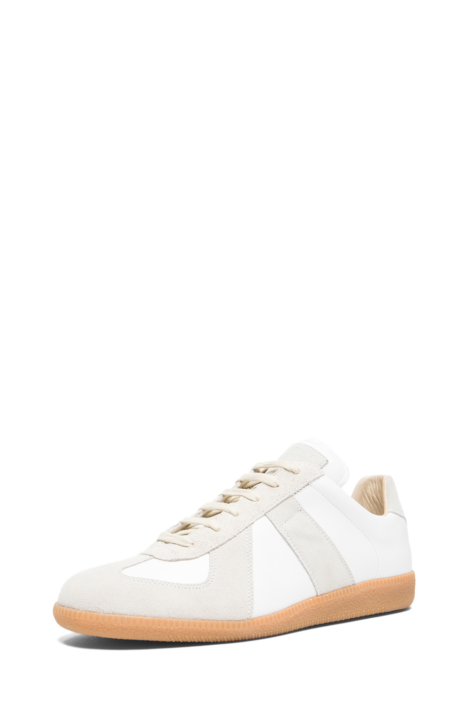 maison margiela 39 replica 39 sneakers in white save 35 lyst. Black Bedroom Furniture Sets. Home Design Ideas
