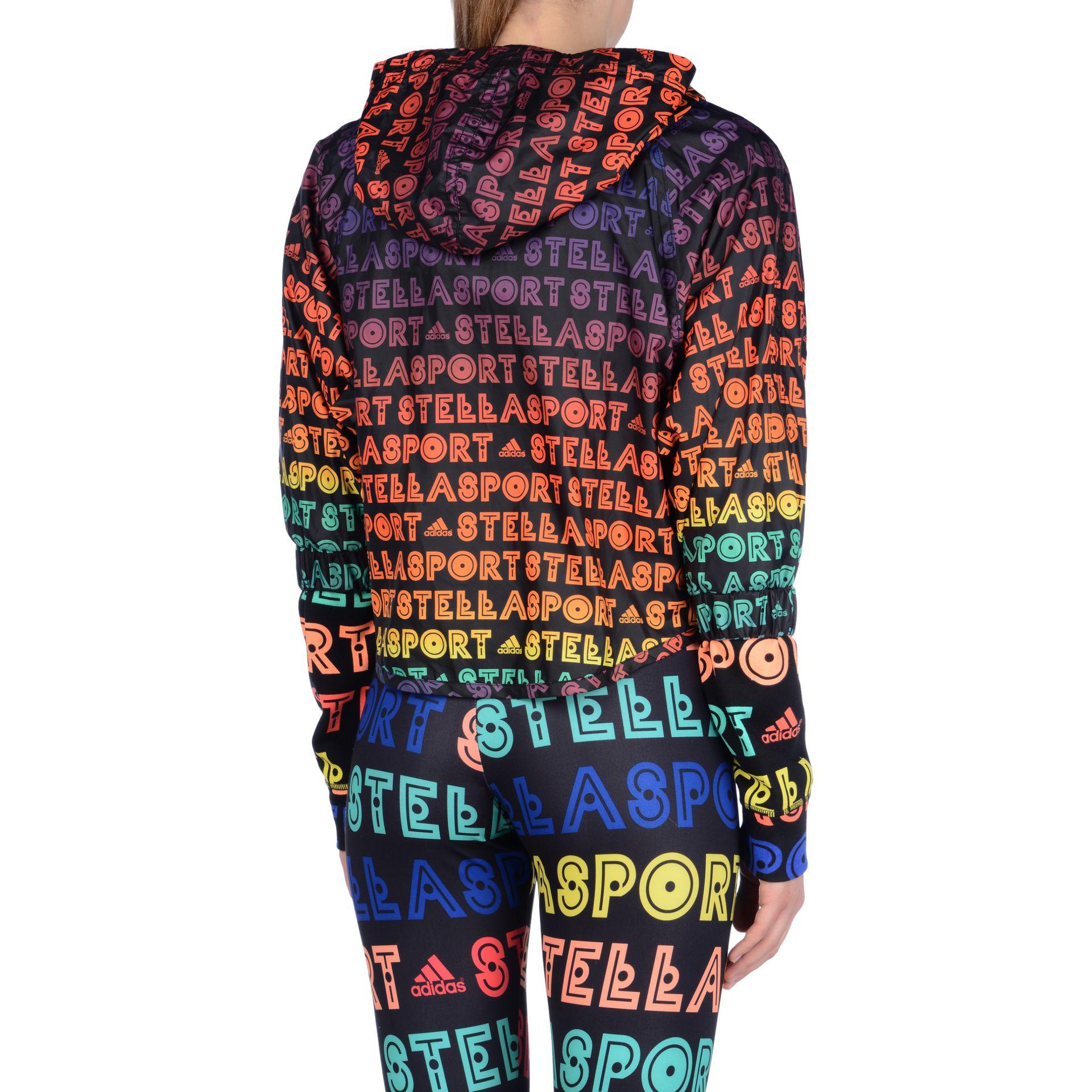 Lyst Adidas By Stella Mccartney Black Logo Jacket In Black