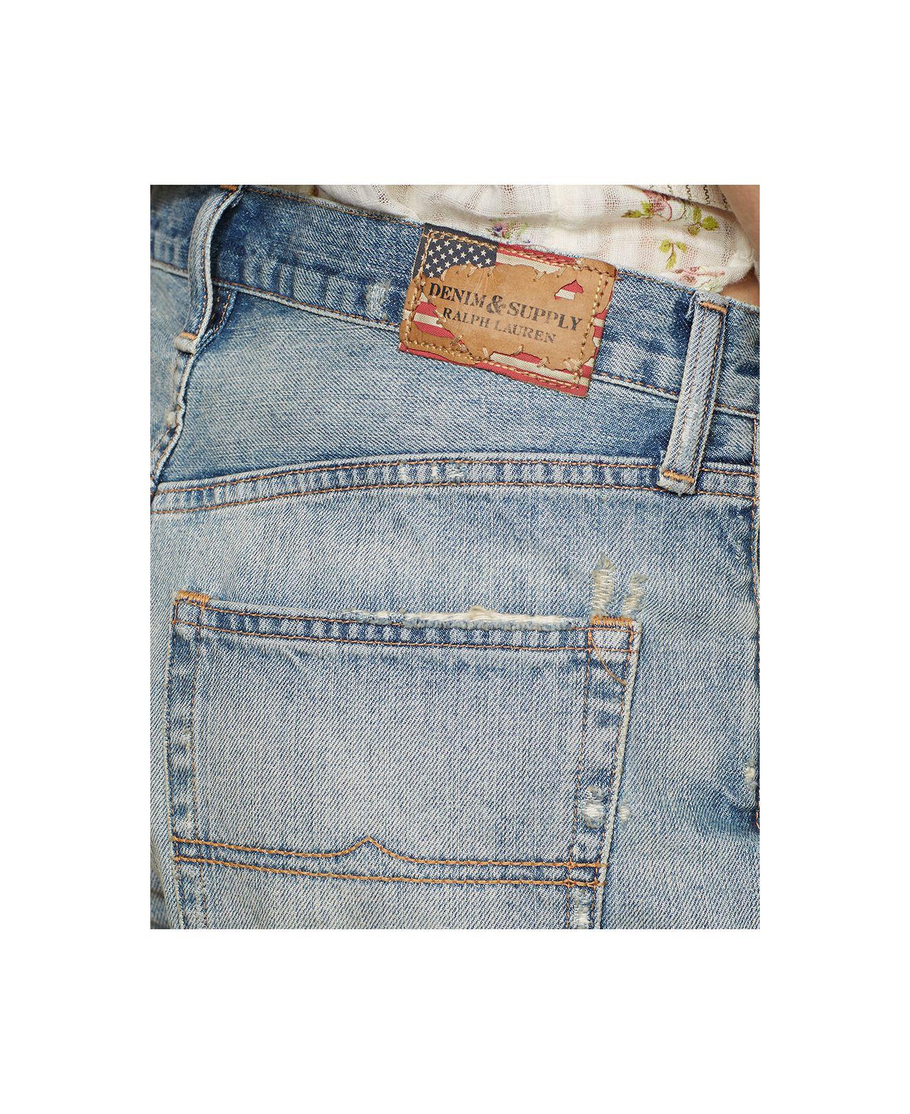 d4a7fe9d7 Denim & Supply Ralph Lauren Distressed Denim Boyfriend Shorts in ...