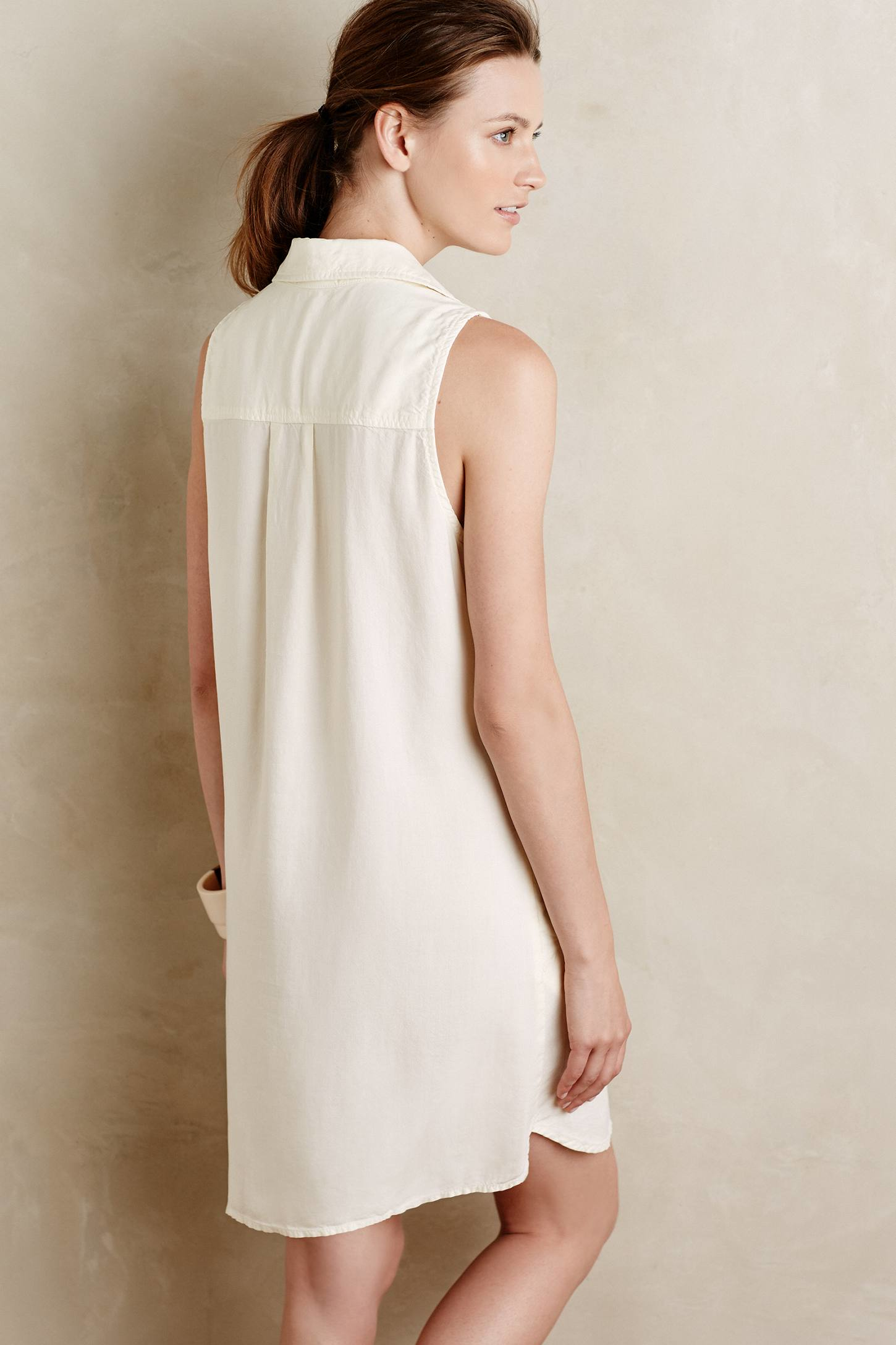 Cloth Amp Stone Anayet Tunic Dress In White Lyst