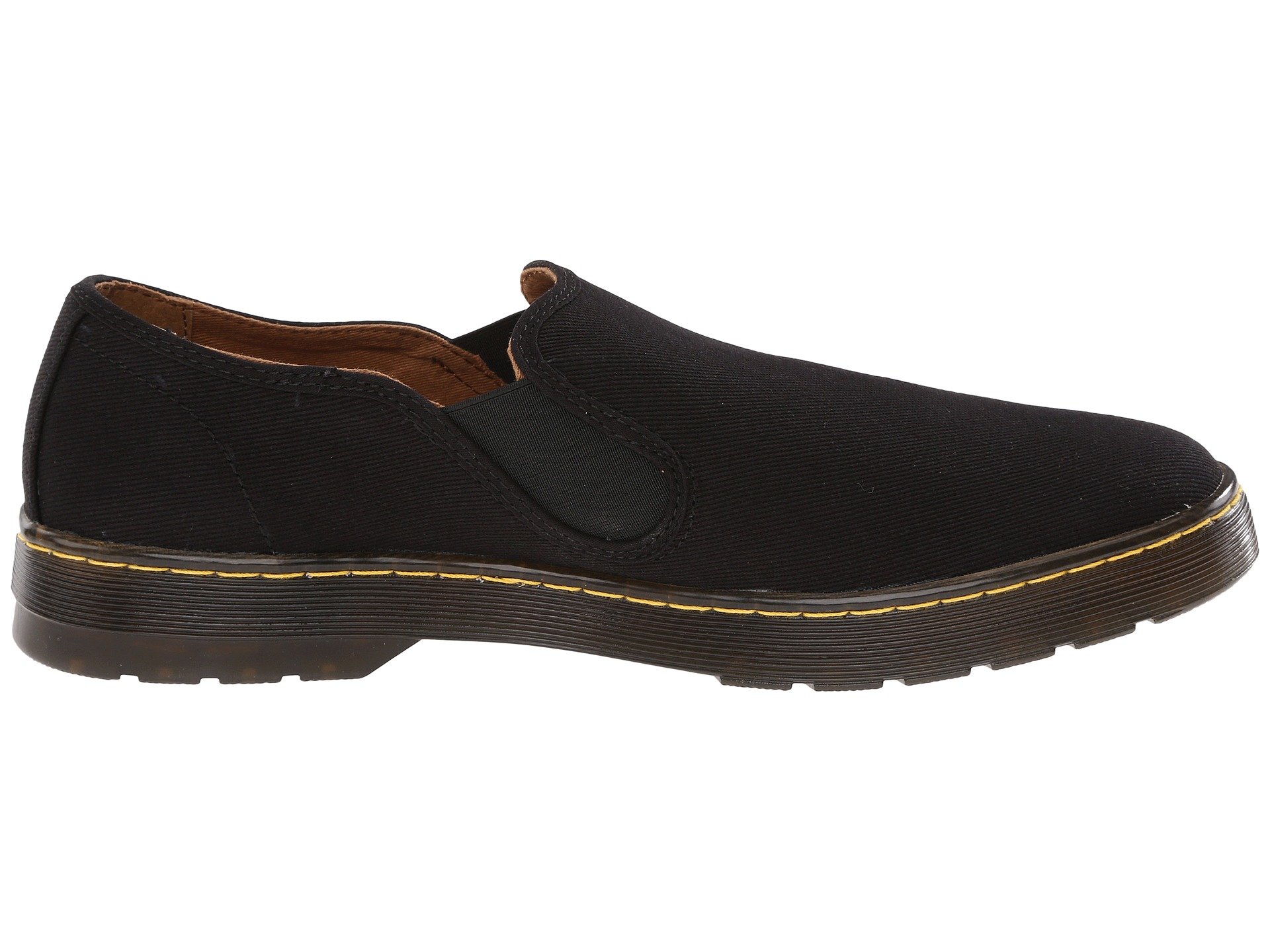 dr martens largo slip on shoe in black for lyst