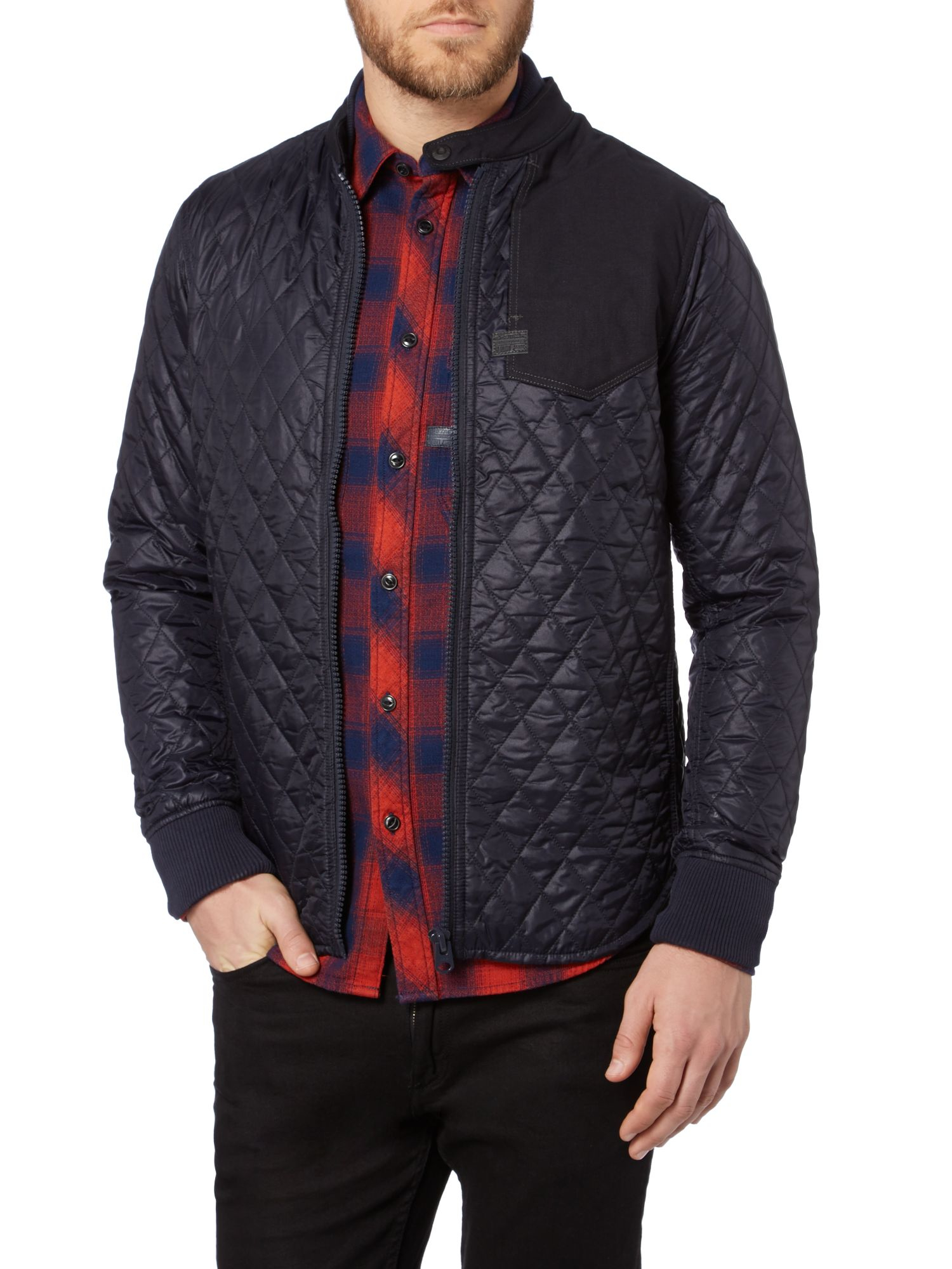 G Star Raw Wolker Slim Fit Quilted Overshirt Jacket In