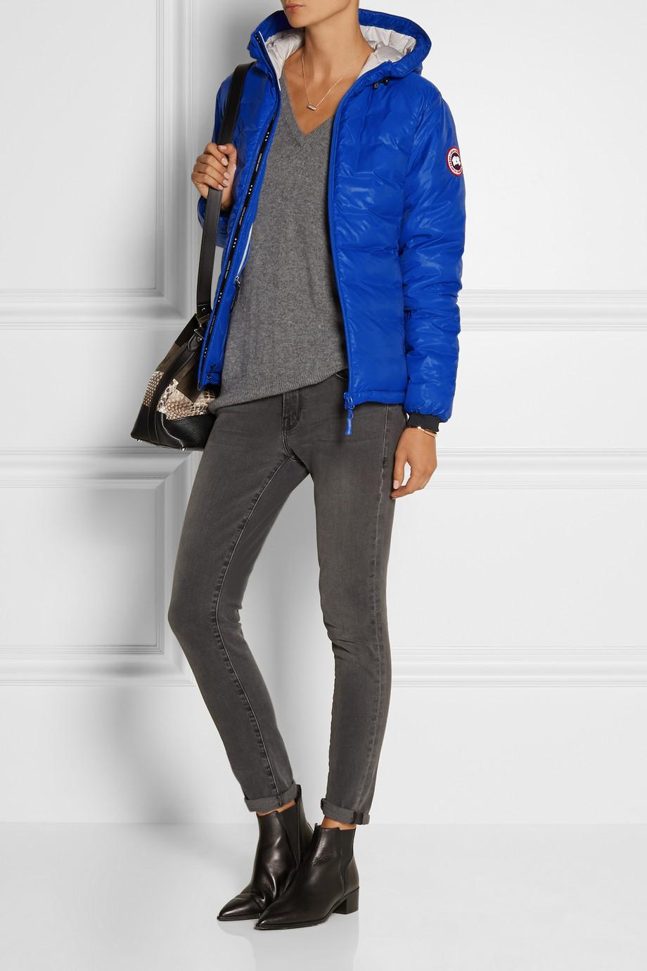 0226a909e hot canada goose camp hooded jacket blue womens vintage af73f 3a718