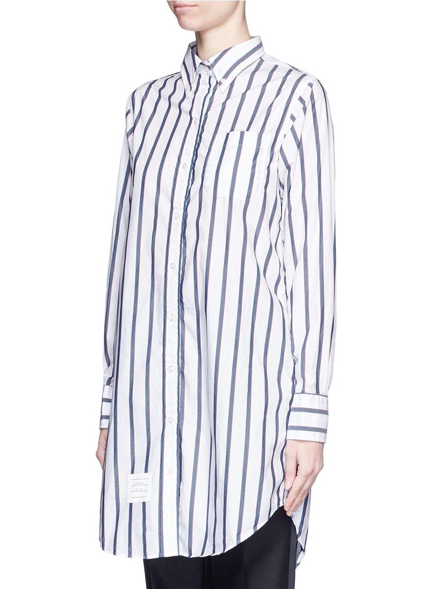 Cotton Thom Poplin Shirt Stripe Lyst Dress Browne txFnqw88TZ
