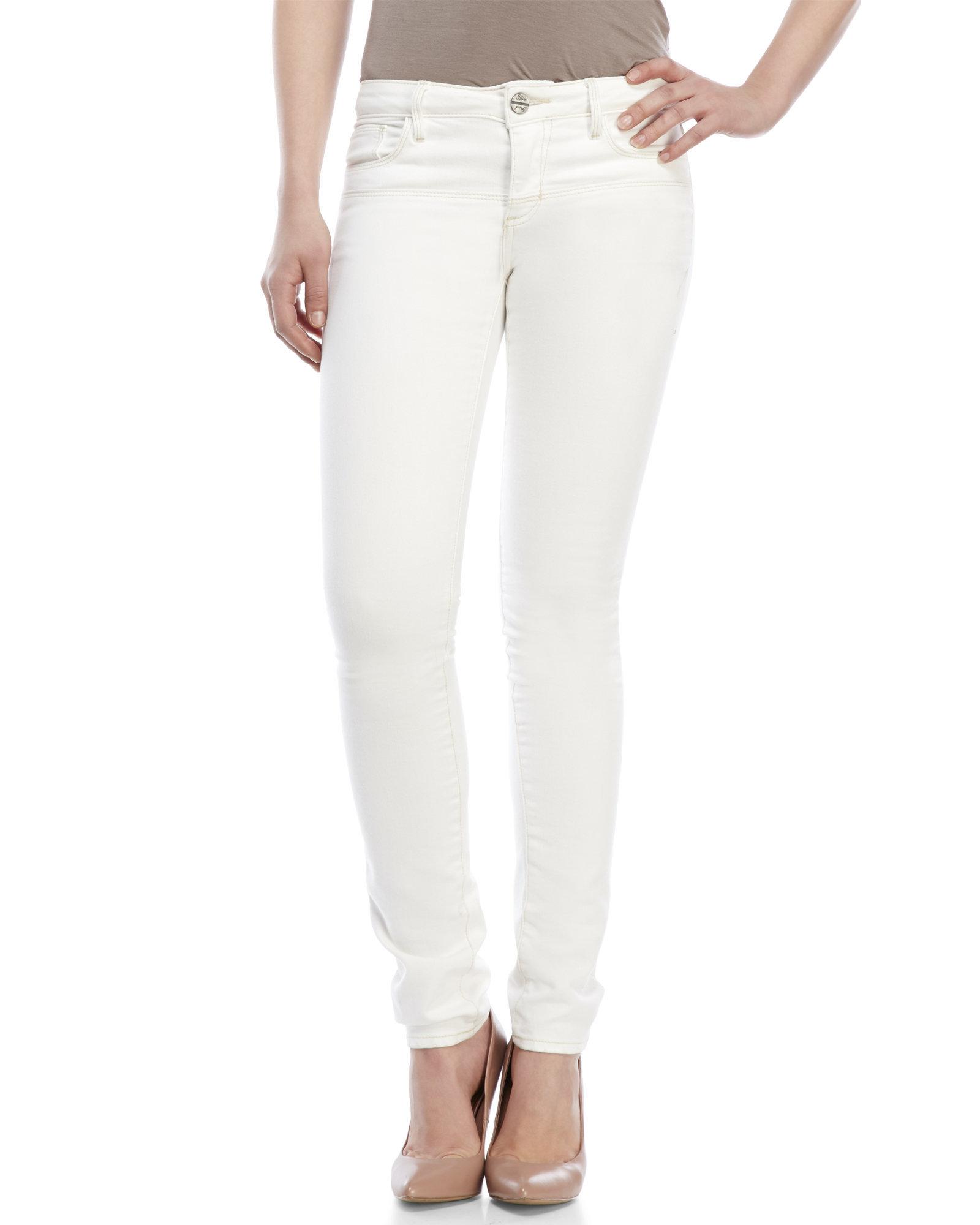 Abs by allen schwartz Off-White Skinny Jeans in White | Lyst