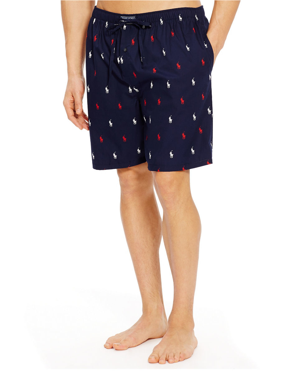 Polo Ralph Lauren Logo Lounge Shorts In Blue For Men Lyst