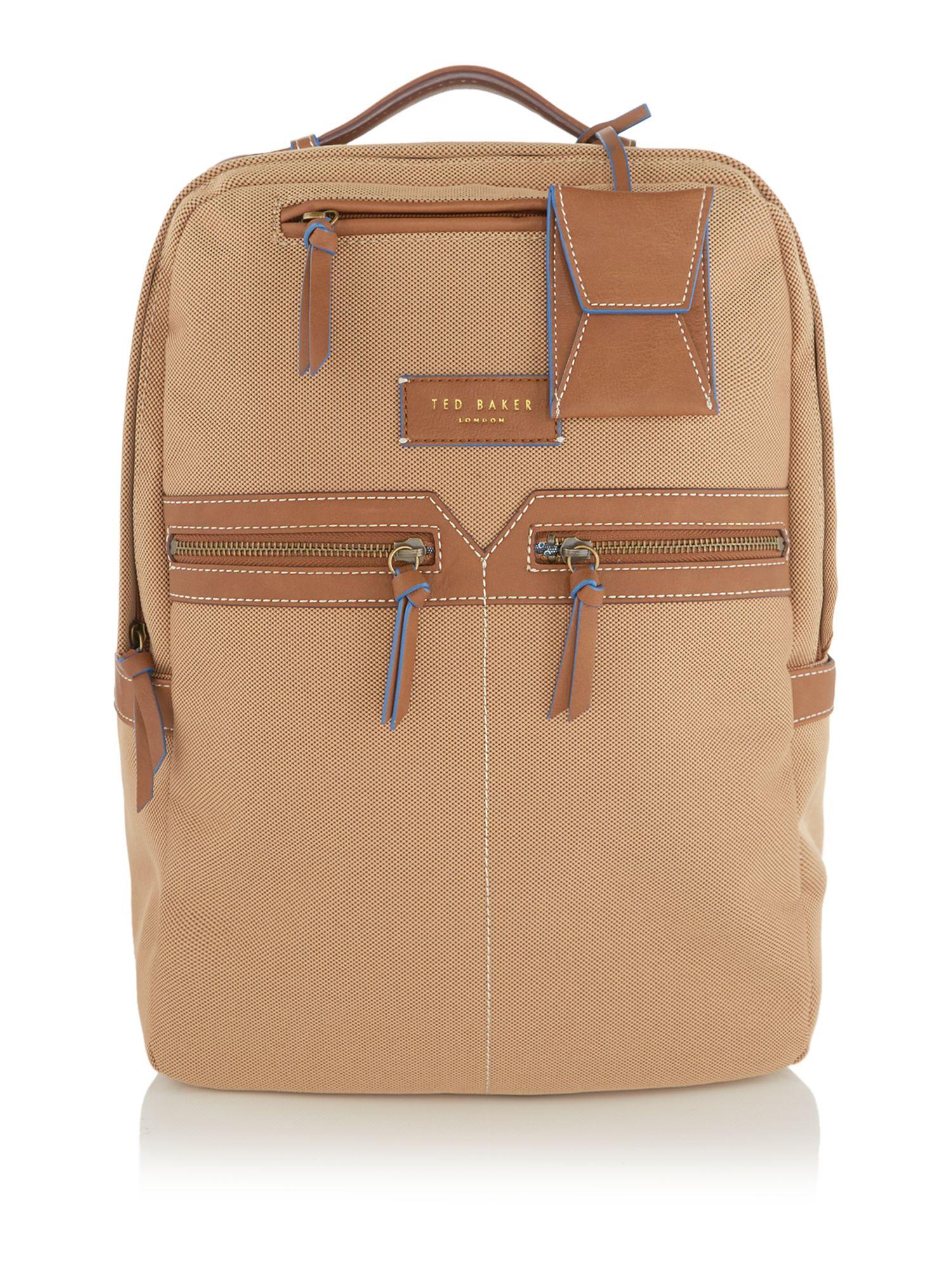 ted baker smartsynthetic rucksack in beige for men. Black Bedroom Furniture Sets. Home Design Ideas