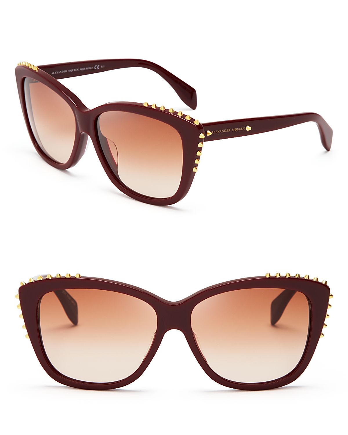 Alexander Mcqueen Cateye Sunglasses  alexander mcqueen spiked cat eye sunglasses in green lyst