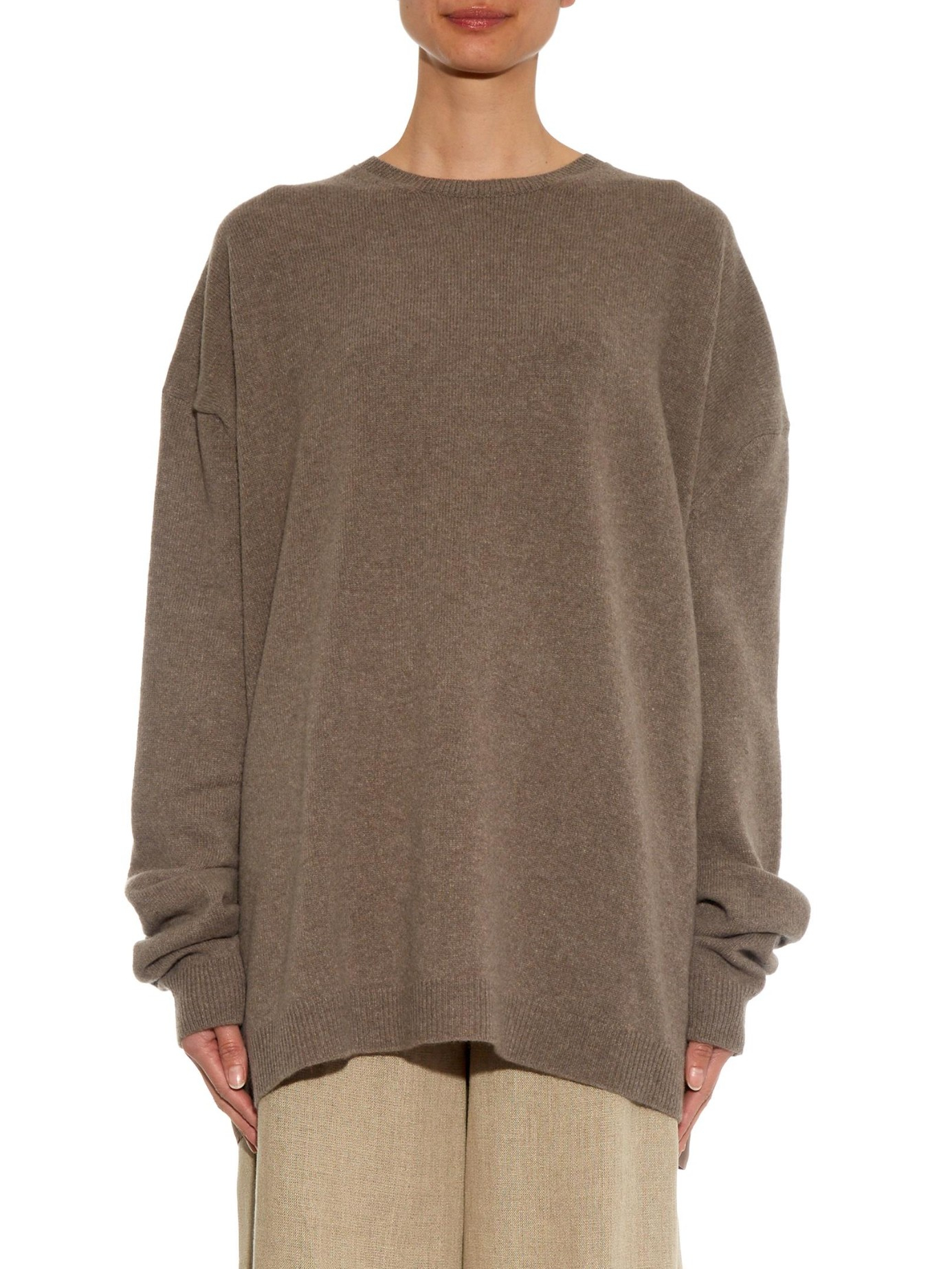 Haider Ackermann Fine Knit Wool And Cashmere Blend Sweater In Light Brown Brown Lyst