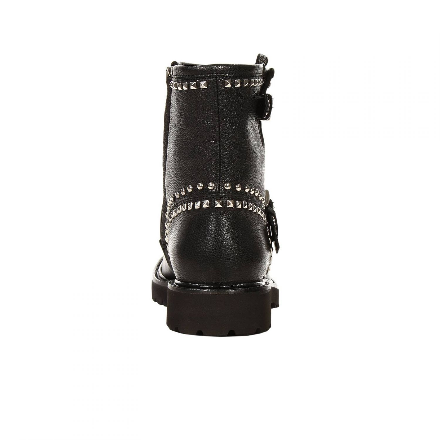 richmond boots biker leather with studs in black lyst