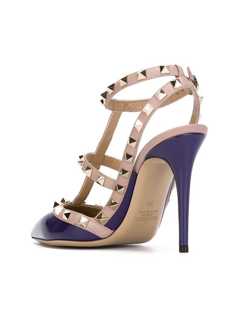 5fa4071184dc Lyst - Valentino  Rockstud  Pumps in Purple