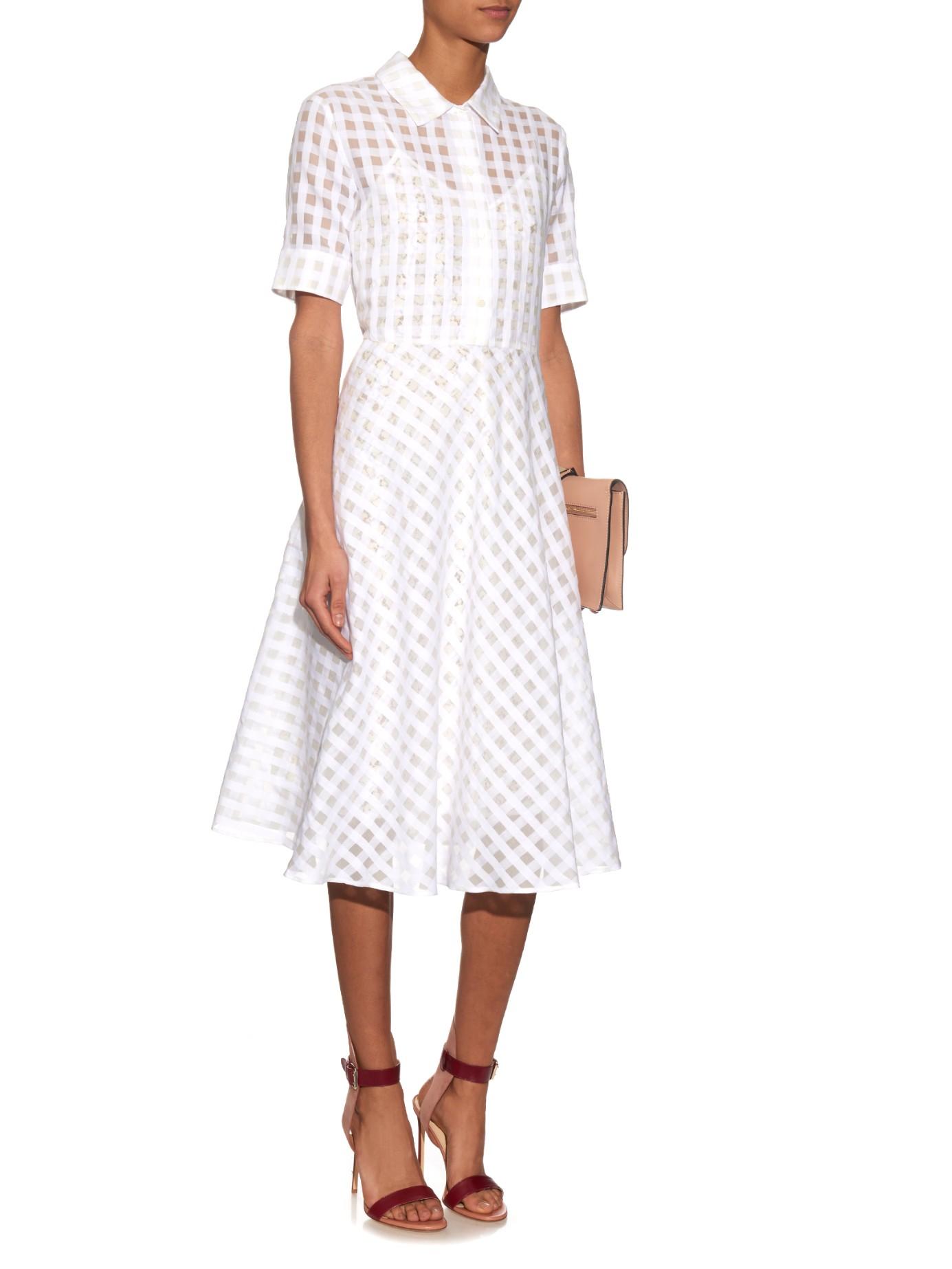 max mara studio morgana dress in white lyst. Black Bedroom Furniture Sets. Home Design Ideas