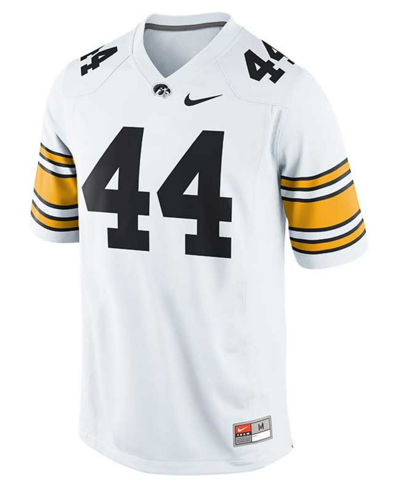buy online c5c56 a3f37 Nike White Men'S Iowa Hawkeyes Replica Football Game Jersey for men