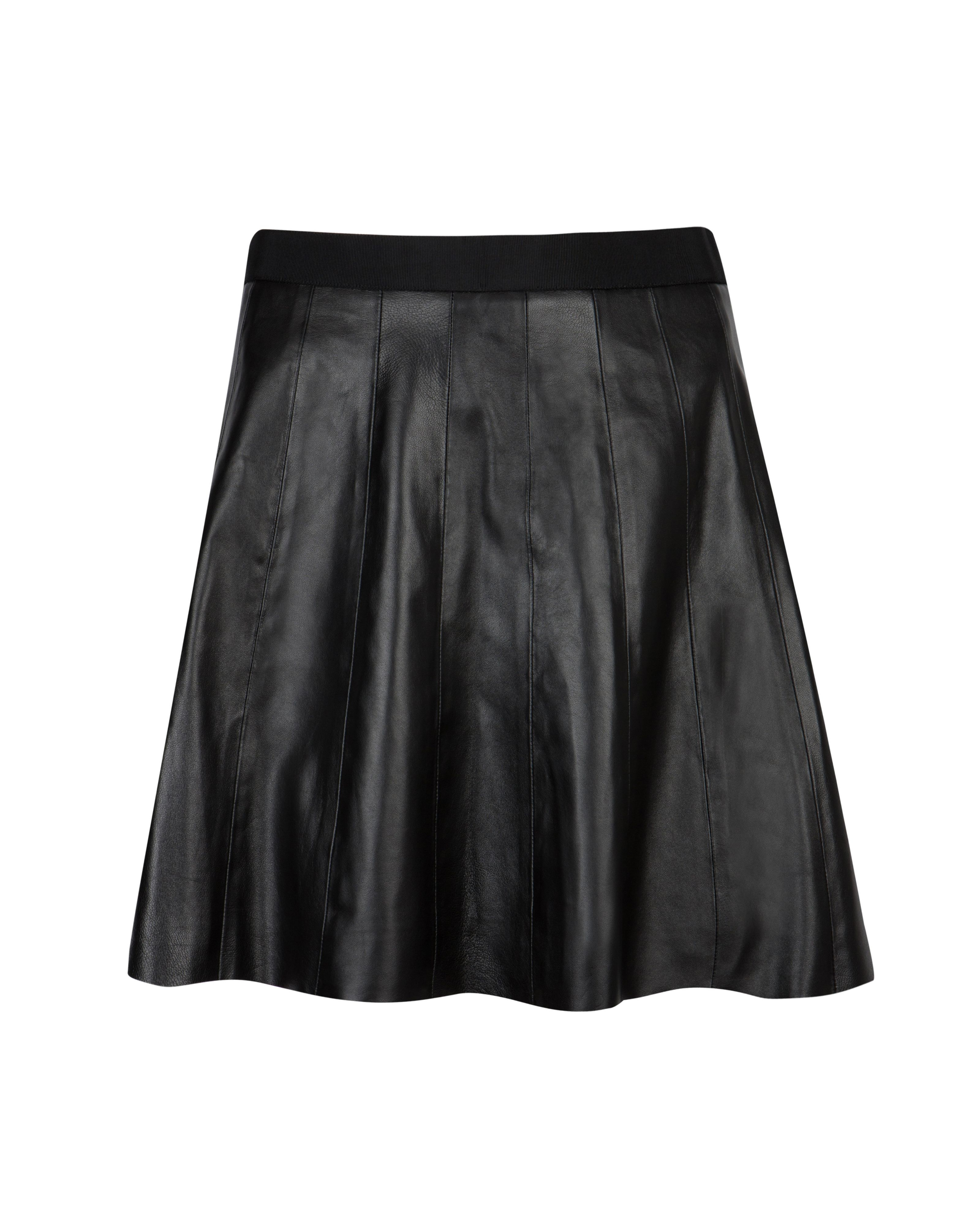 ted baker qiana leather panel skirt in black lyst