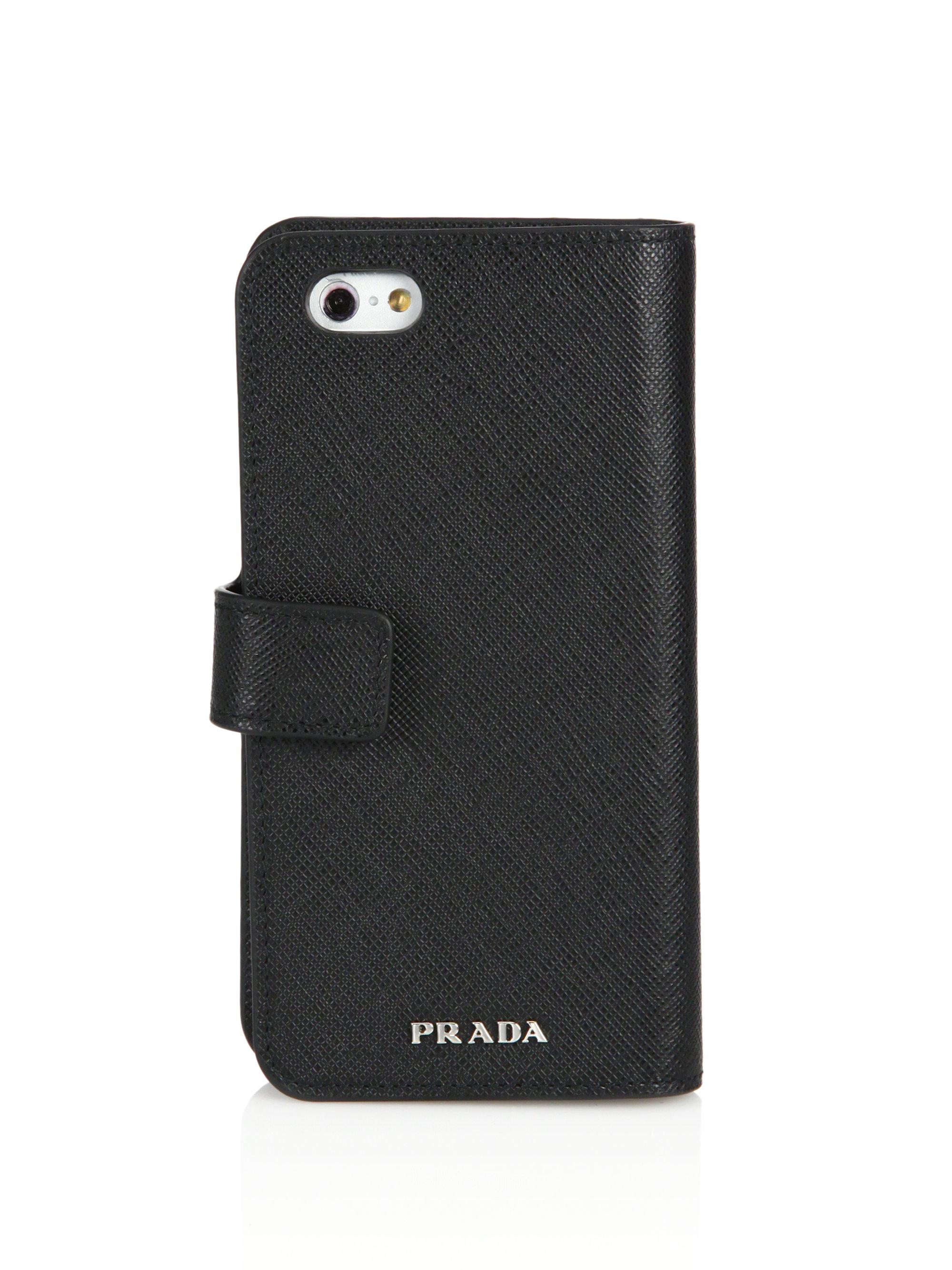 the best attitude 63915 630d3 Prada Black Iphone Holder & Wallet for men