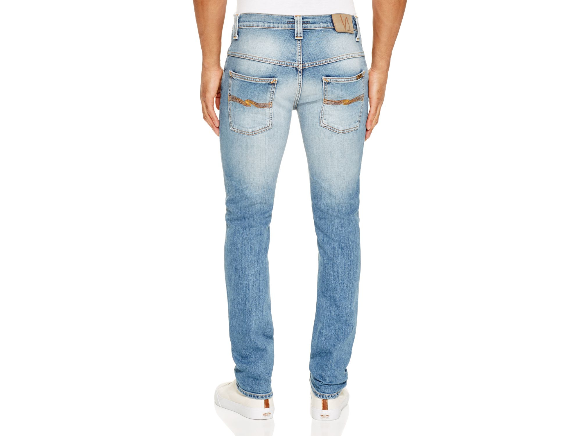 Nudie Jeans Denim Thin Finn Slim Fit Jeans In Indigo Shuffle in Blue for Men