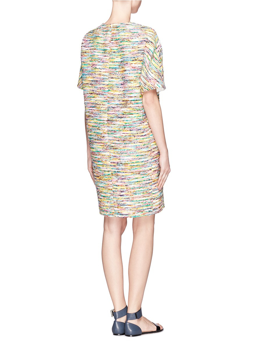 Lyst Chlo 233 Multi Colour Tweed Shift Dress