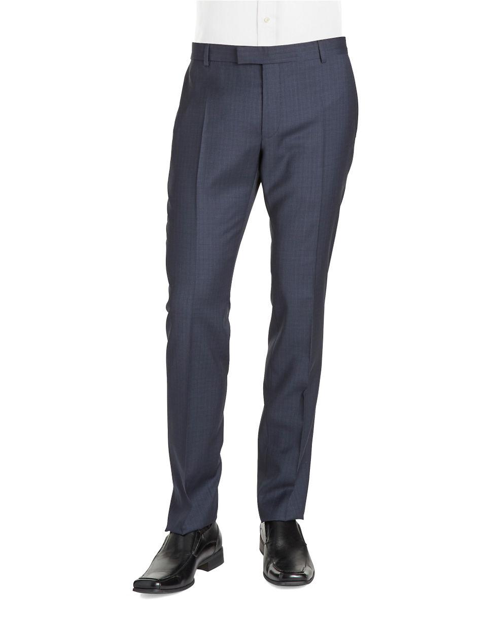 strellson mercer slim fit pants in blue for men lyst. Black Bedroom Furniture Sets. Home Design Ideas