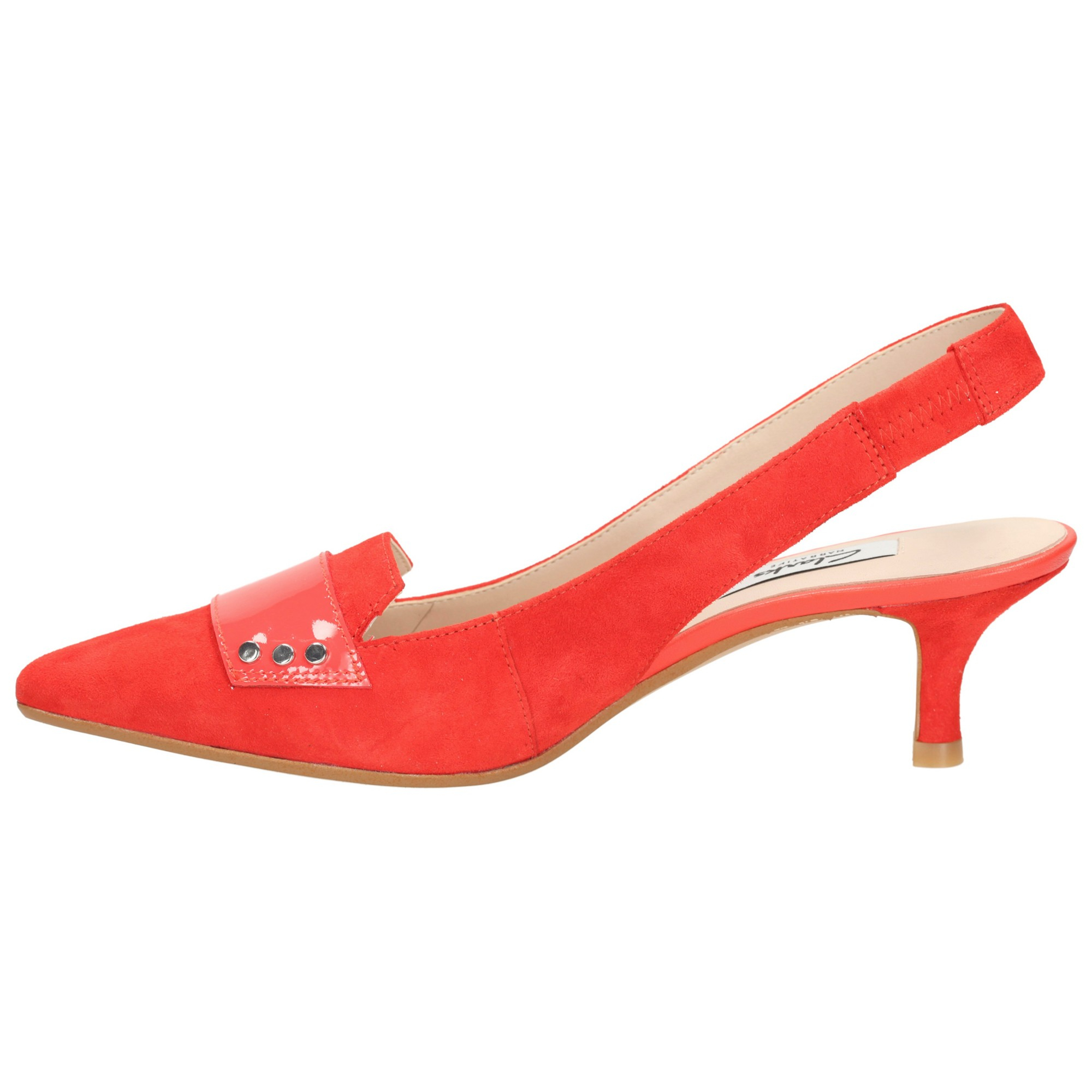 Red Shoes Low Heels Clarks