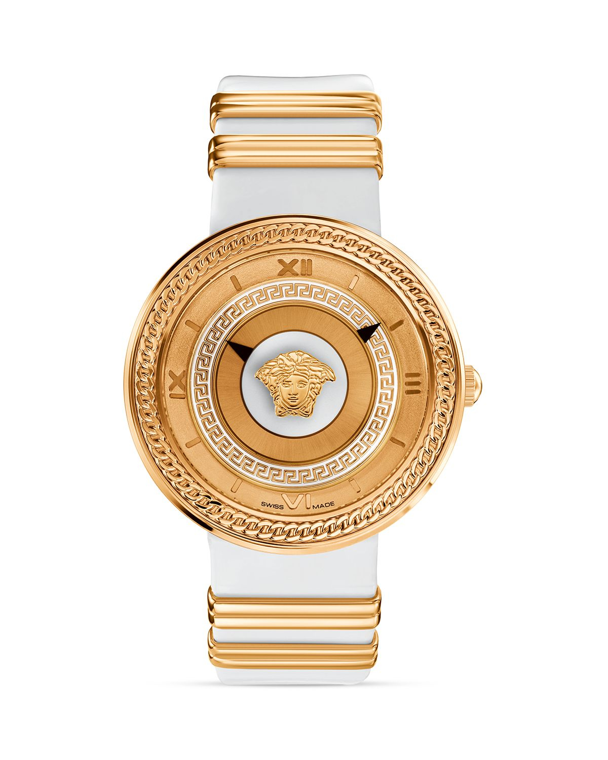 versace v metal gold white 40mm in